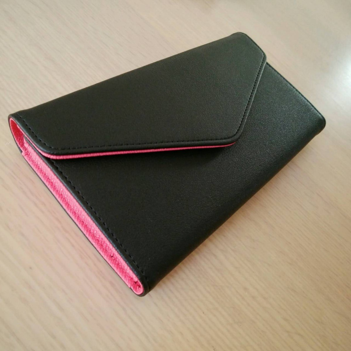 レディース 長財布 通帳ケース 磁気防止 スキミング防止 ブラック
