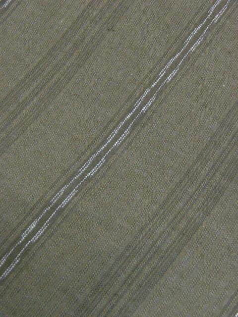 クリックポスト・送料無料 信玄袋「男衆」(マチ無し)8 綿生地 藍媚茶色・縞 新品_画像4