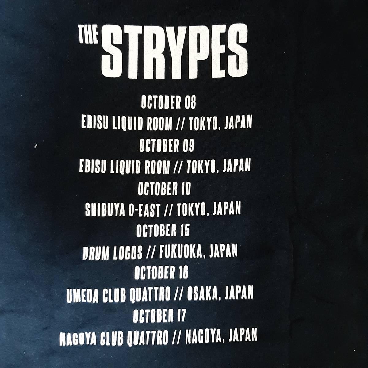 レア バンドTシャツ THE STRYPES ストライプス JAPAN TOUR 限定 黒 Lサイズ ロックTシャツ 古着 ヴィンテージ garage rock