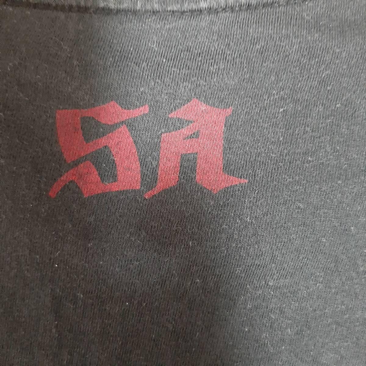 レア バンドTシャツ SA エスエー START ALL OVER AGAIN 2016 黒 XLサイズ ロックTシャツ パンク PUNK 古着 ラフィンノーズ