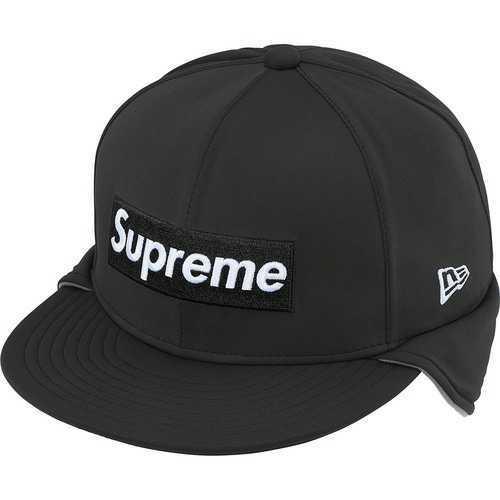 7 5/8 国内購入 本物 Supreme NEW ERA Windstopper Earflap Gore Box Logo XL 20FW ロゴ NewEra ニューエラ 黒 BLACK ゴア_画像3