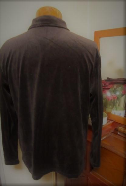 ベルベット風 ジップアップ シャツジャケット F_画像3