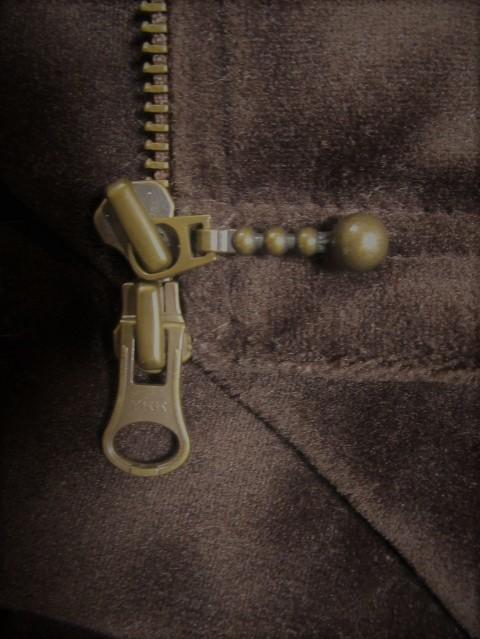 ベルベット風 ジップアップ シャツジャケット F_画像5