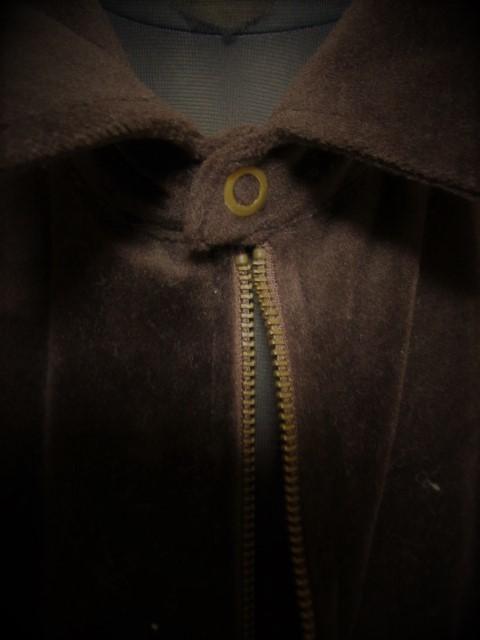 ベルベット風 ジップアップ シャツジャケット F_画像2