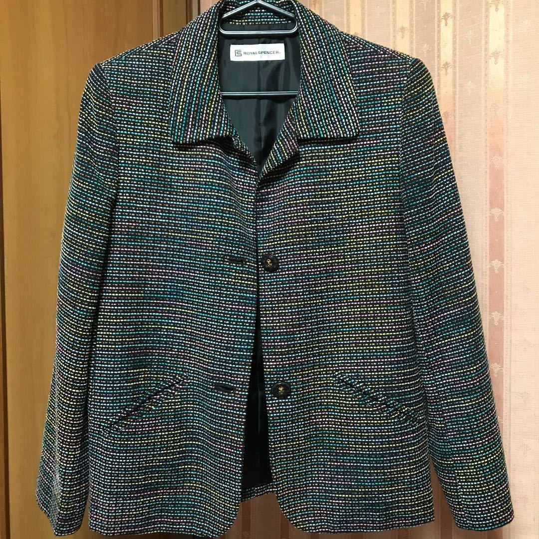 シルク混ジャケット カラーが綺麗