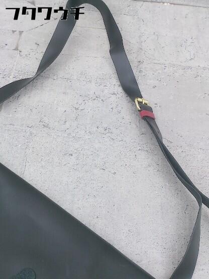 ◇ FRED PERRY フレッドペリー F9290 牛革 SATCHEL BAG ショルダー バッグ ブラック メンズ ▽ 1002800547500_画像7