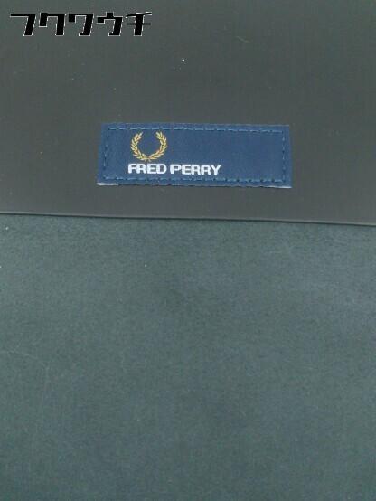 ◇ FRED PERRY フレッドペリー F9290 牛革 SATCHEL BAG ショルダー バッグ ブラック メンズ ▽ 1002800547500_画像4