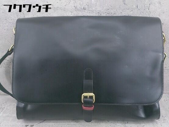 ◇ FRED PERRY フレッドペリー F9290 牛革 SATCHEL BAG ショルダー バッグ ブラック メンズ ▽ 1002800547500_画像1