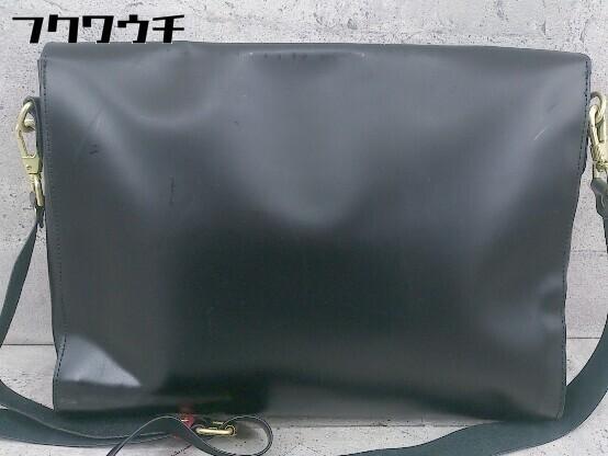 ◇ FRED PERRY フレッドペリー F9290 牛革 SATCHEL BAG ショルダー バッグ ブラック メンズ ▽ 1002800547500_画像2