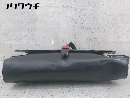 ◇ FRED PERRY フレッドペリー F9290 牛革 SATCHEL BAG ショルダー バッグ ブラック メンズ ▽ 1002800547500_画像3