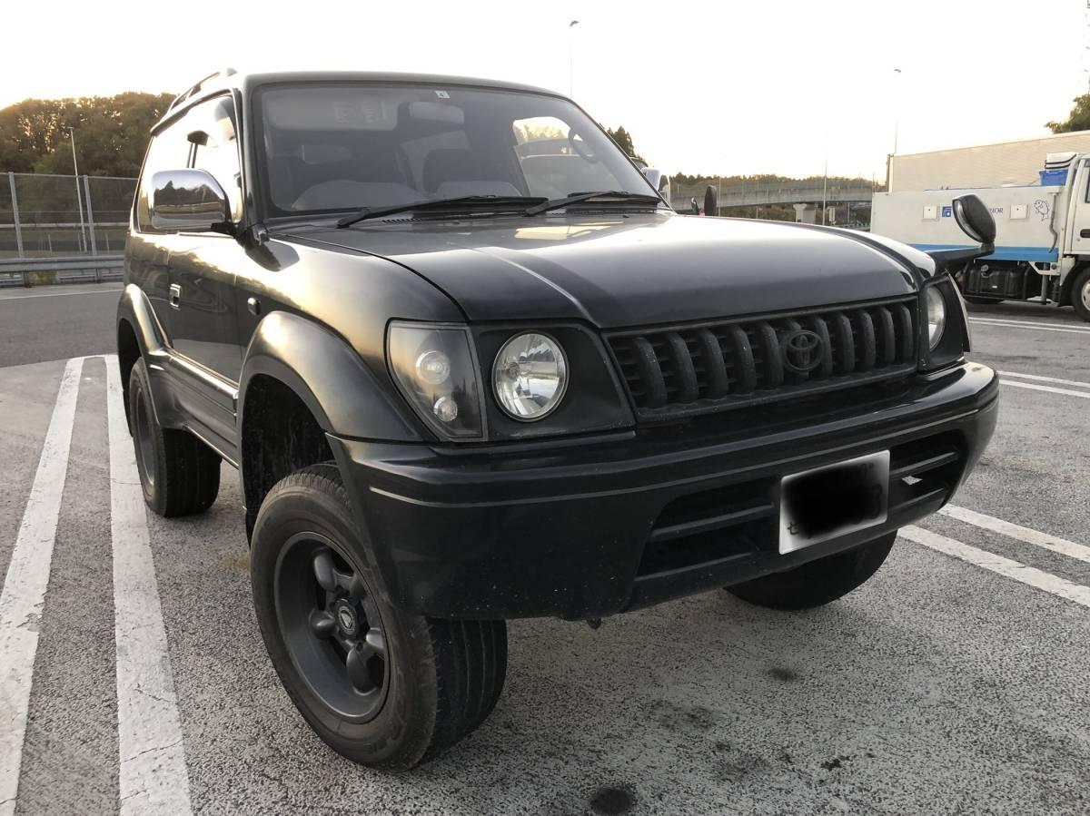 「ランドクルーザー プラド ランクル ディーゼルターボ 4WD 車検令和4年4月 RX 90系 3ドア 1KZ」の画像1