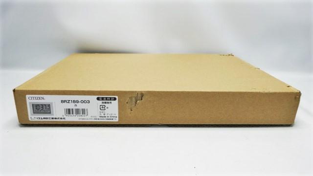 未使用 箱破損 訳あり CITIZEN シチズン リズム時計 電波 デジタル時計 8RZ189-003 掛置兼用 掛時計 置時計 温度計 湿度計 日付 管17_画像2