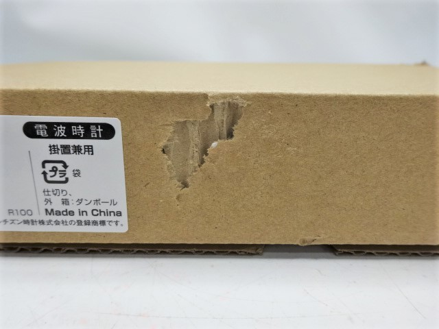 未使用 箱破損 訳あり CITIZEN シチズン リズム時計 電波 デジタル時計 8RZ189-003 掛置兼用 掛時計 置時計 温度計 湿度計 日付 管17_画像4