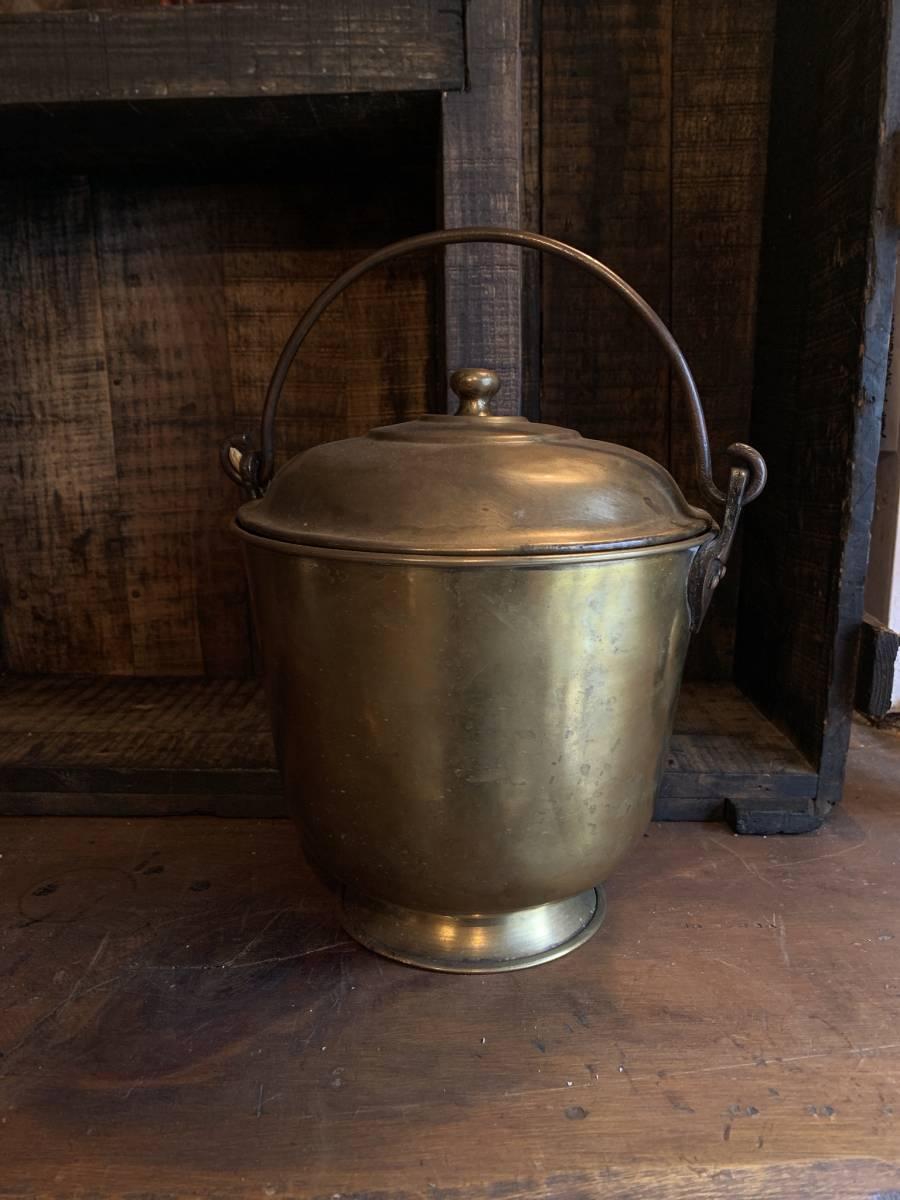 真鍮製 真鍮 ワインクーラー 水差し インテリア ヴィンテージ ハンドメイド インド 民藝