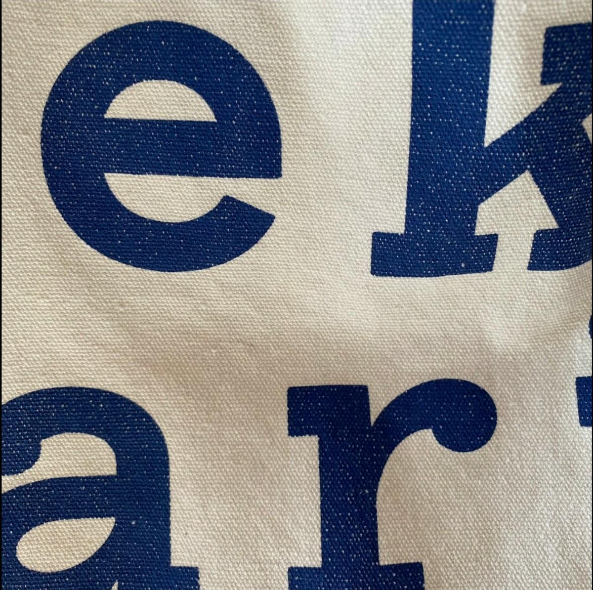 【ラスト1点】マリメッコ トートバッグ 青 ロゴ ブルー エコバッグ 新品