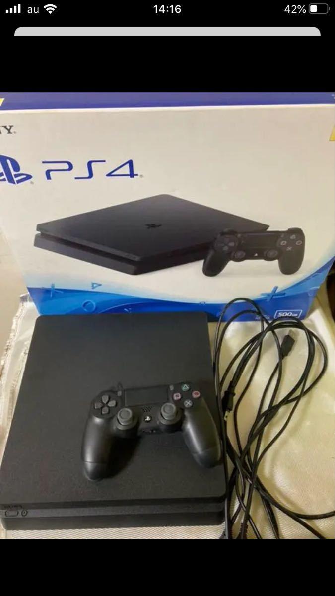 PlayStation4 ジェット・ブラック 500GB CUH-2100 AB01 直ぐゲームプレイ可能!!
