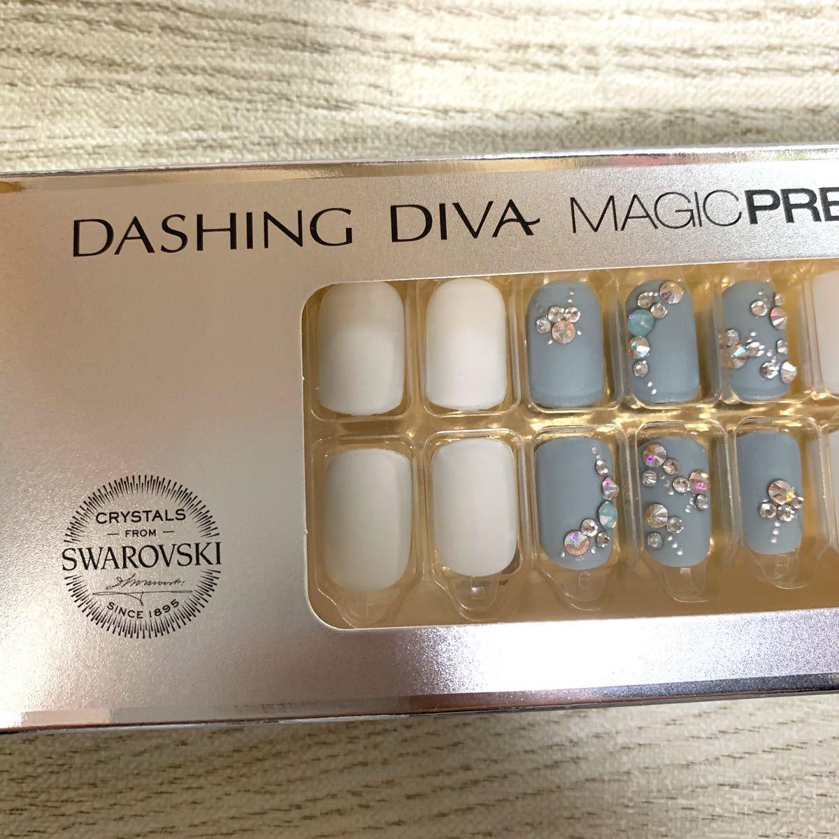 【スワロフスキーコレクション】DASHINGDIVA ダッシングディバ マジックプレス ネイルチップ マット スペシャル
