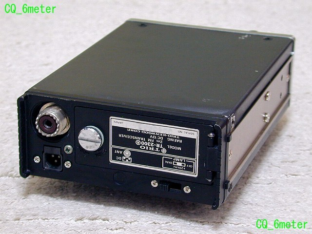 ●CQ_6meter●TRIOの2mポータブル TR-2300(A) 147M台入り整備品_画像4