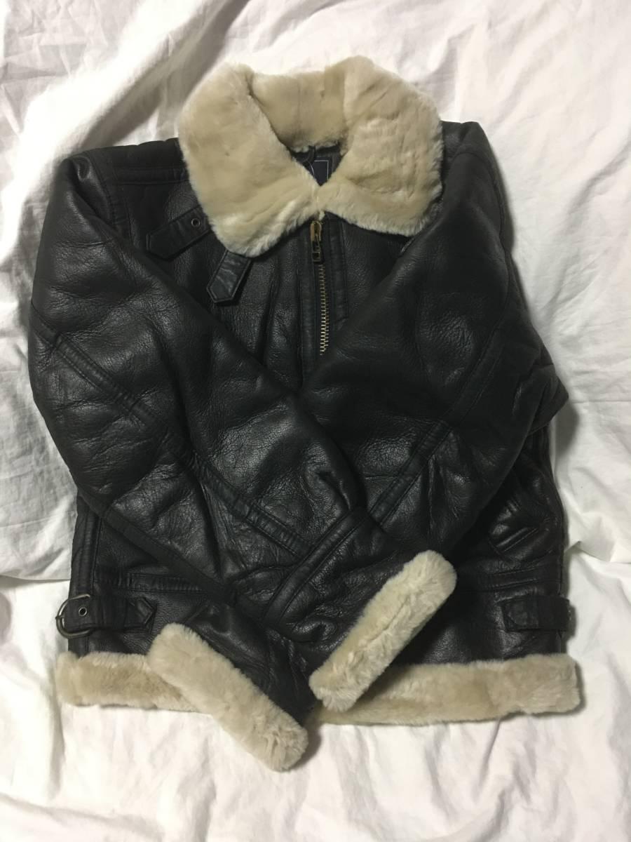 大人気 サントリー ボスジャンS B3 フライト 牛革 ヴィンテージ品 ライダースジャケット 非売品 入手困難 激レア 激安 処分b_画像5