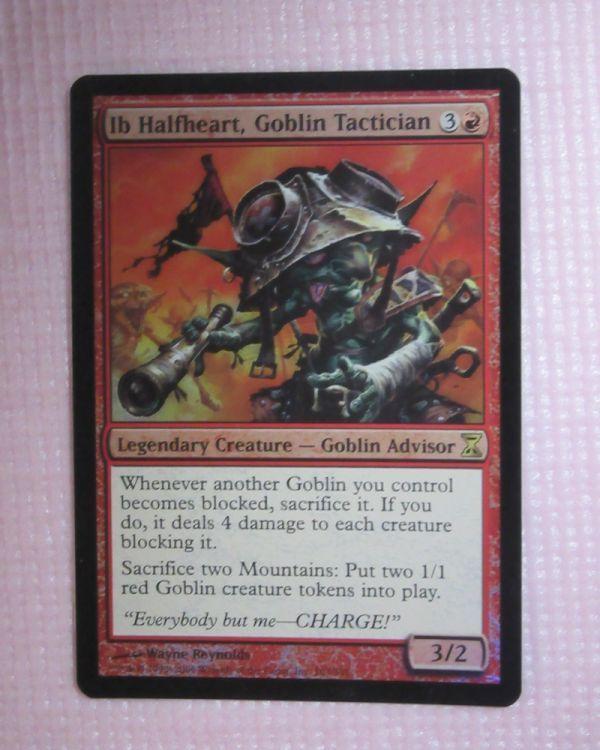mtg foil 英語版 TSP ゴブリンの戦術家、半心臓のイッブ/Ib Halfheart, Goblin Tactician 1枚まで 即決_画像1