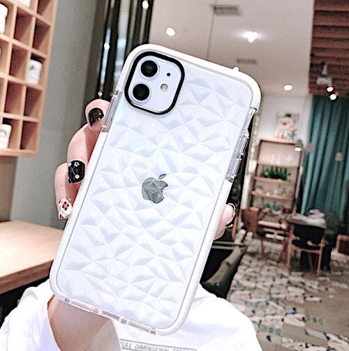 iPhone12 / 12Pro ホワイト iPhoneケース iPhoneカバー シンプル クリア_画像1