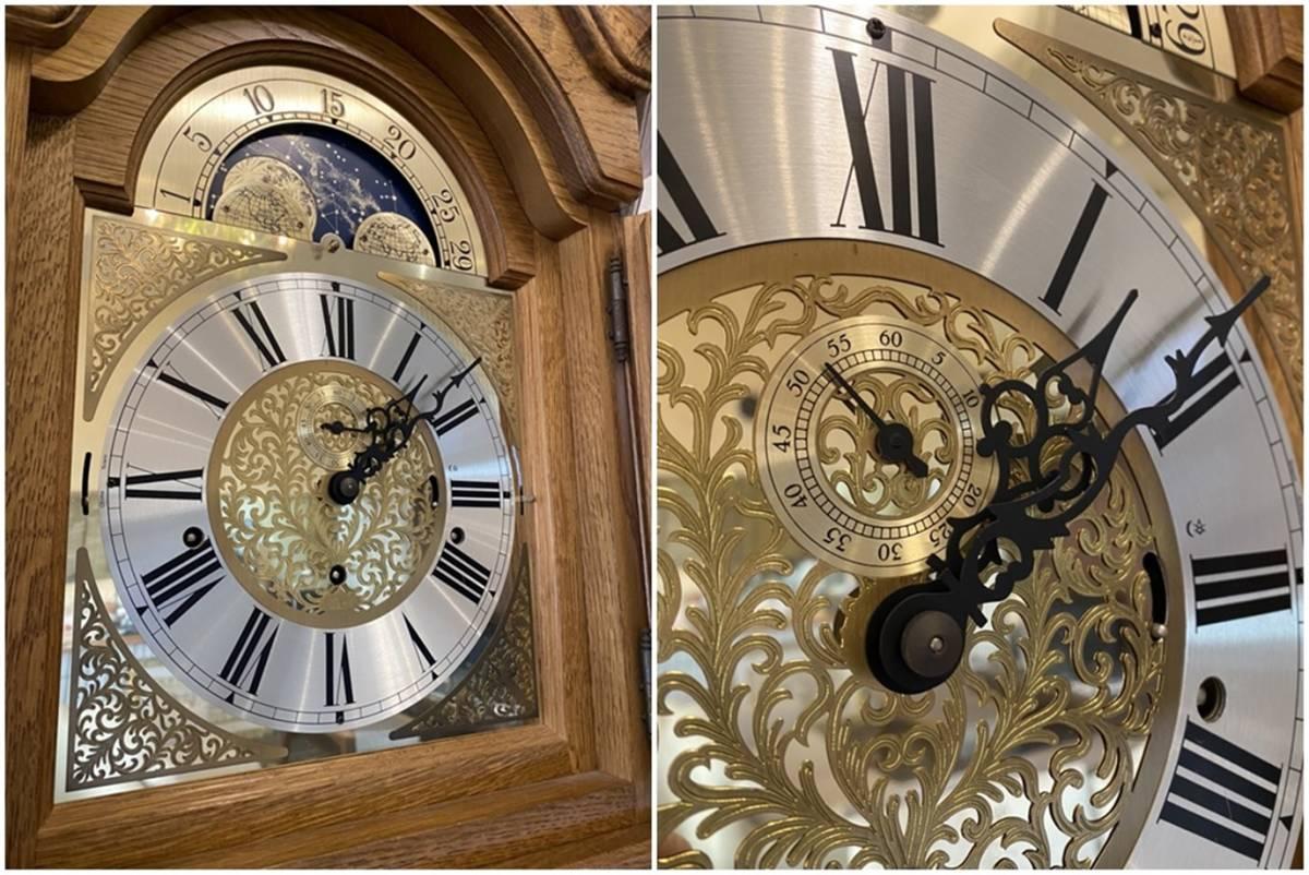 FranzHermle ヘルムレ ホールクロック 大型置時計 ドイツ製 柱時計 フォールクロック_画像2
