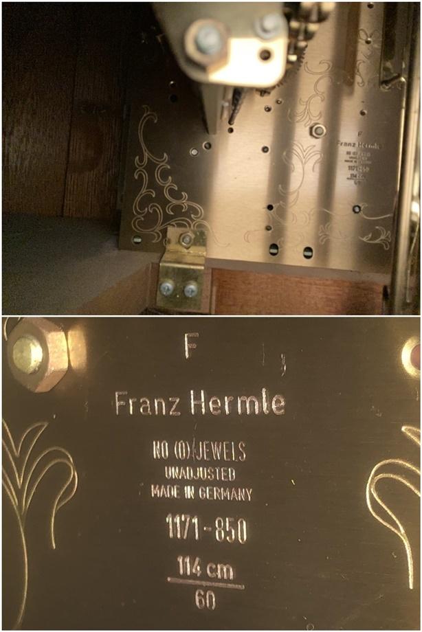 FranzHermle ヘルムレ ホールクロック 大型置時計 ドイツ製 柱時計 フォールクロック_画像3