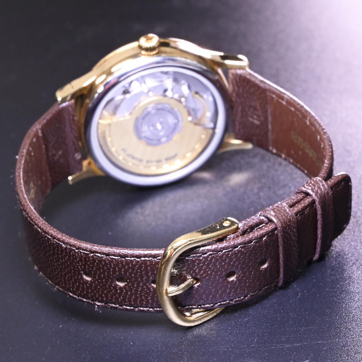 本物 極上品 英国 ガラード 極希少 独立針 レギュレーター オートマチック メンズウォッチ 裏スケ 男性用自動巻腕時計 保存箱付 GARRARD_画像7