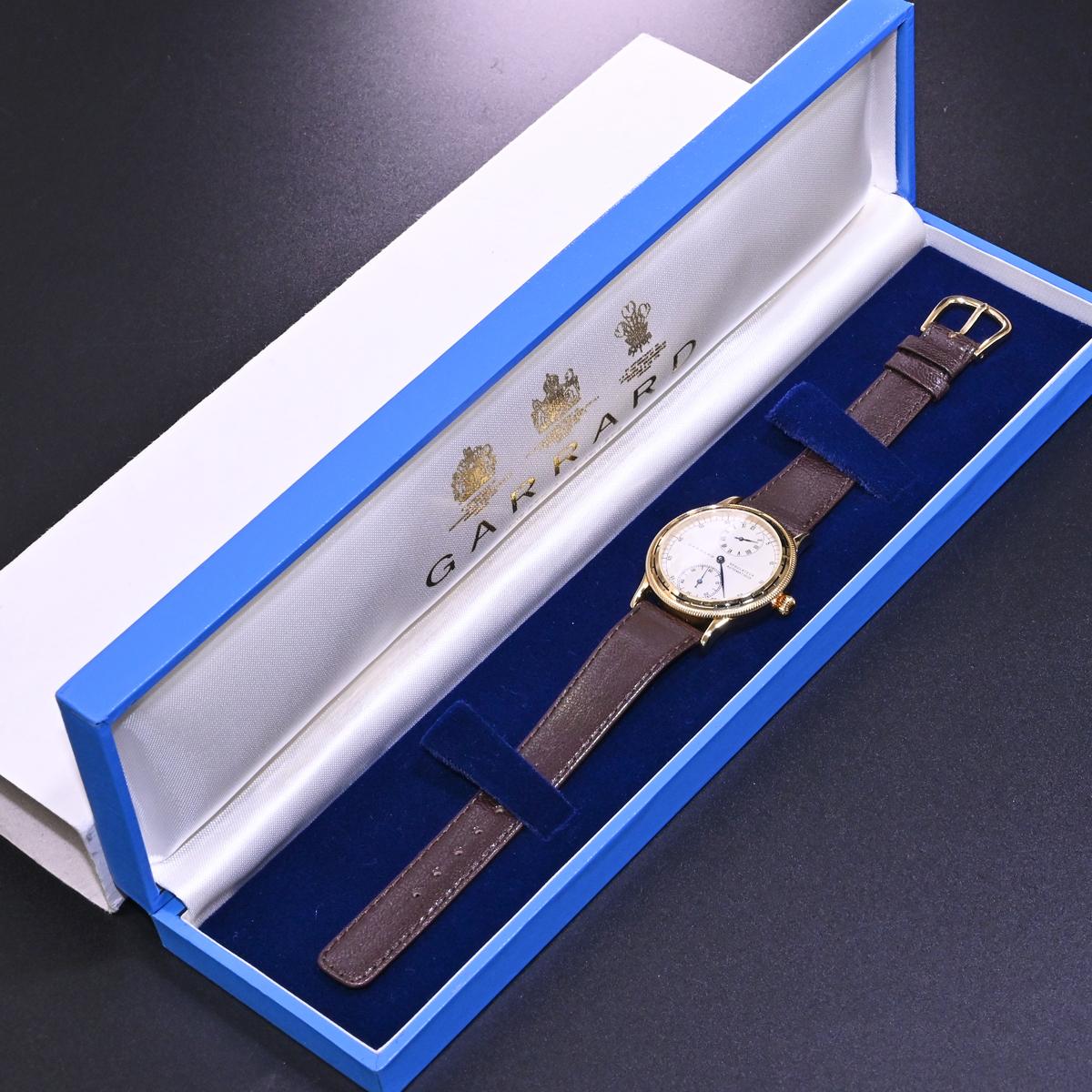 本物 極上品 英国 ガラード 極希少 独立針 レギュレーター オートマチック メンズウォッチ 裏スケ 男性用自動巻腕時計 保存箱付 GARRARD_画像10