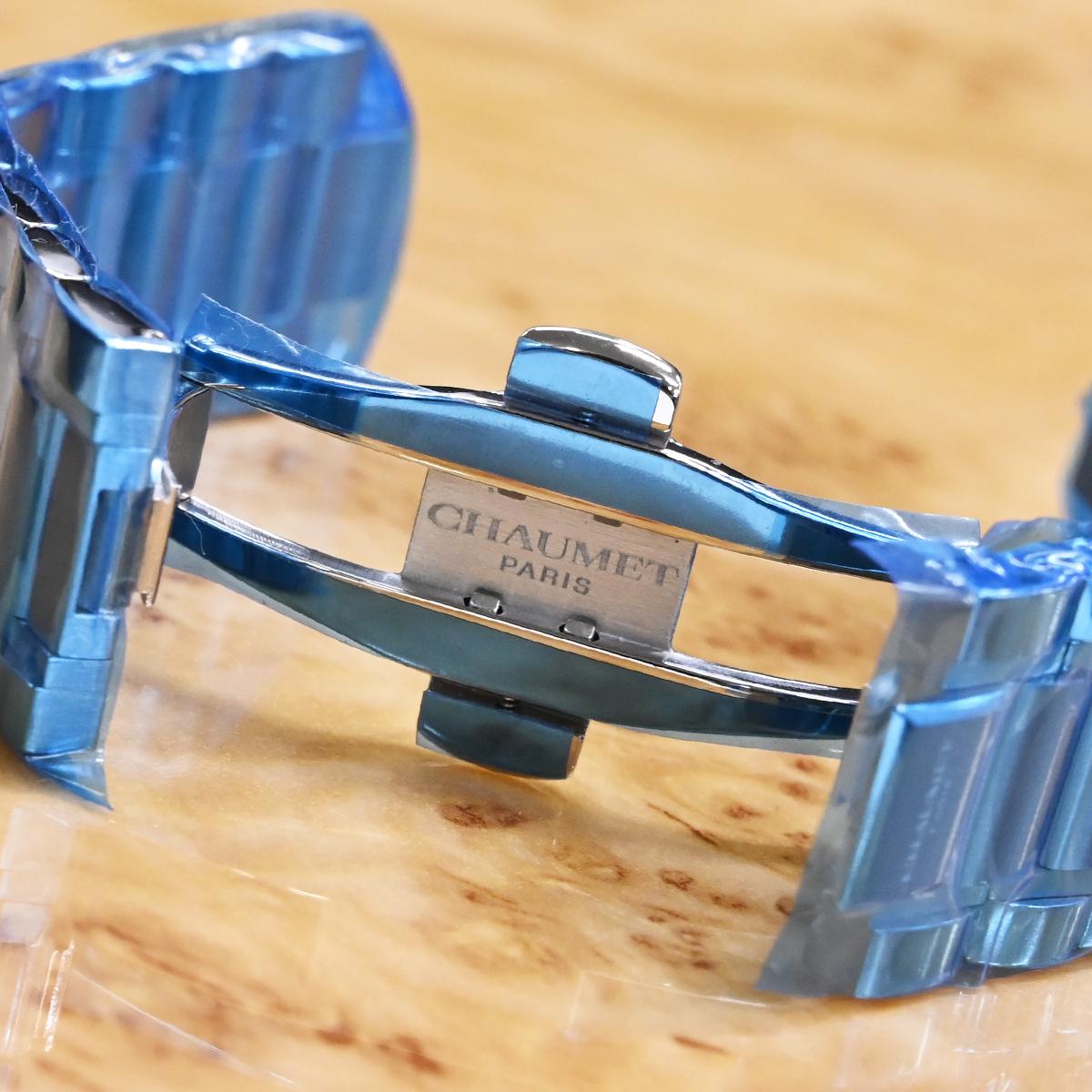 本物 新品 ショーメ 極希少 クラスワン ダイバー 純正ステンレスブレスレット SSブレス 腕時計 ウォッチベルト メタルブレス CHAUMET_画像3