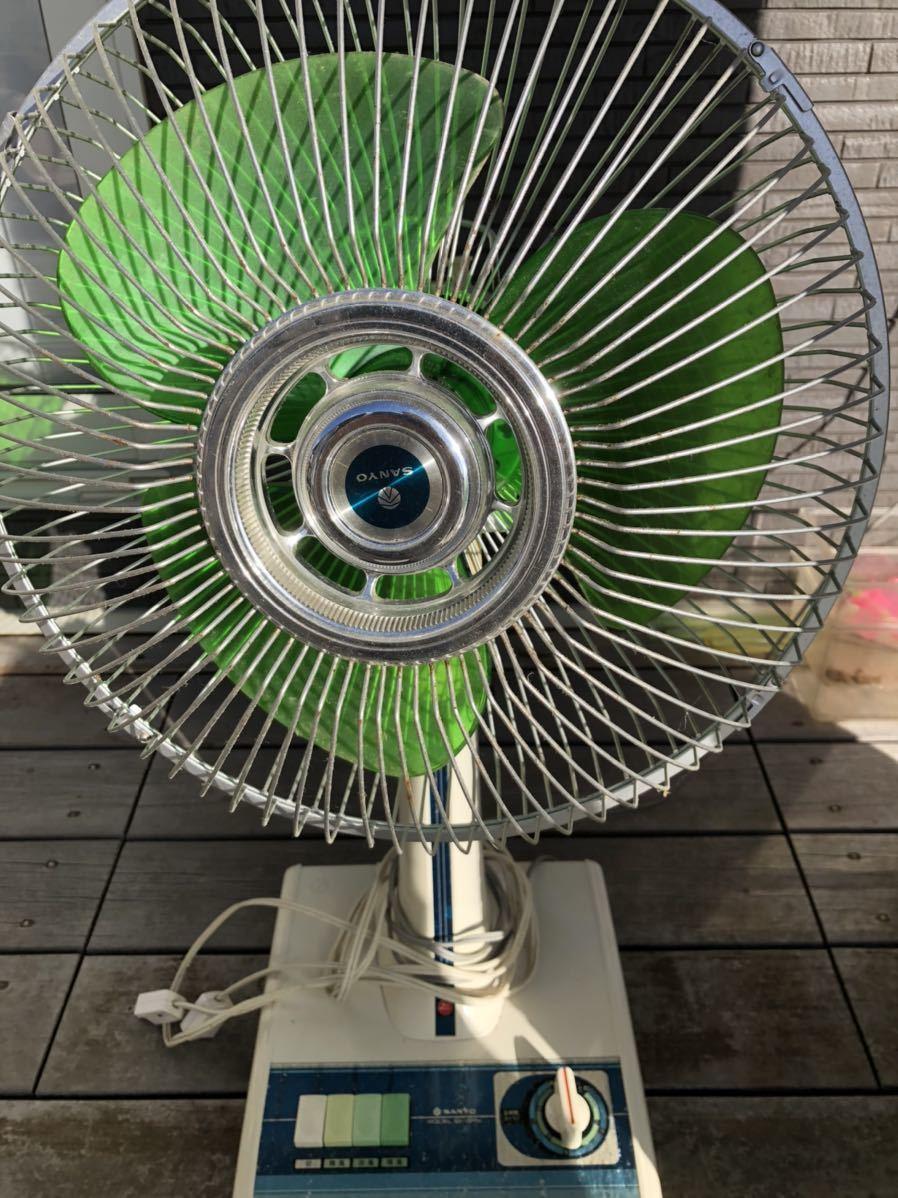 昭和レトロ 扇風機 アンティーク サンヨー SANYO レトロ扇風機_画像6