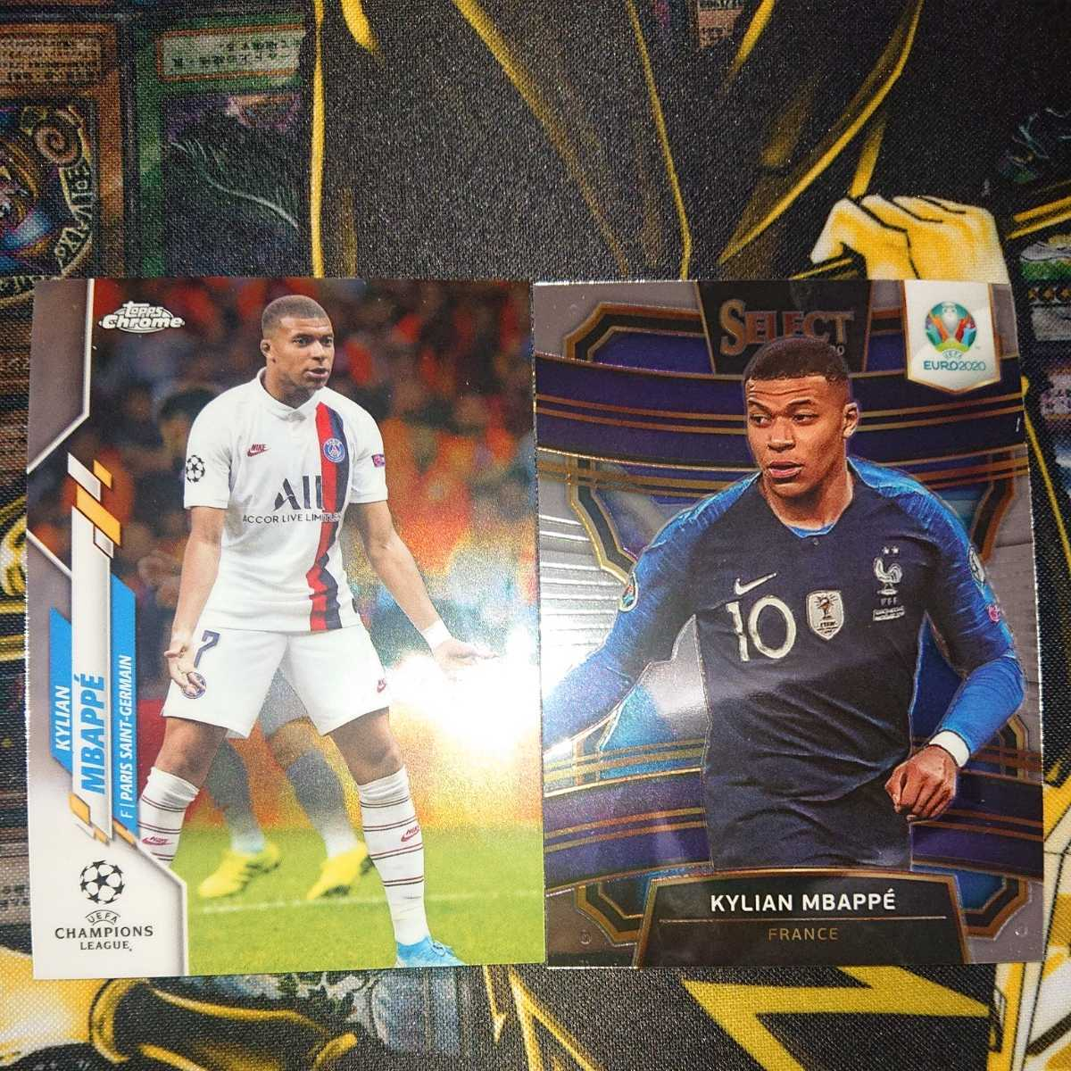 2020 PANINI SELECT EURO Base Terrace KYLIAN MBAPPE ムバッペ2019-20 Topps Chrome UEFA Champions League Soccer Base card 2枚セット_画像1