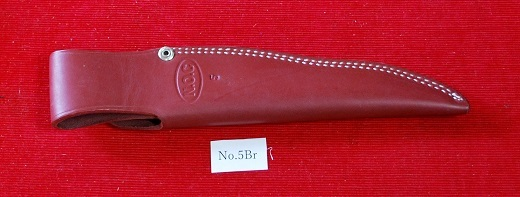 No.5Br 牛革ナイフケース。Brown Col・Blade:10cm~12cm用