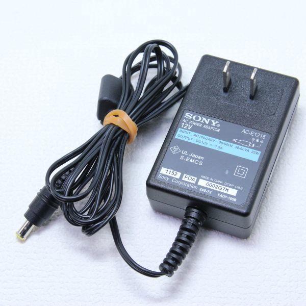 K20 送料520円 SONY ソニー 純正 ACアダプター AC-E1215 センタープラス 12V 1.5A_画像1