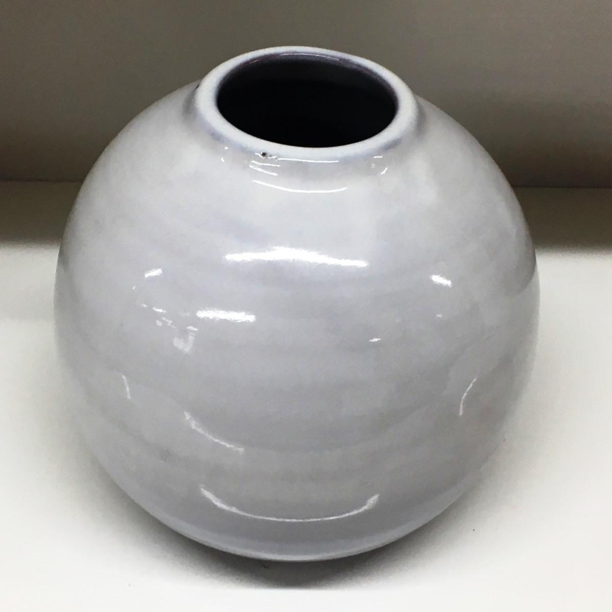 ■萩焼 天鵬 花瓶 高さ約19cm /中古品 フラワーベース 花入 インテリア ⇔■_画像1
