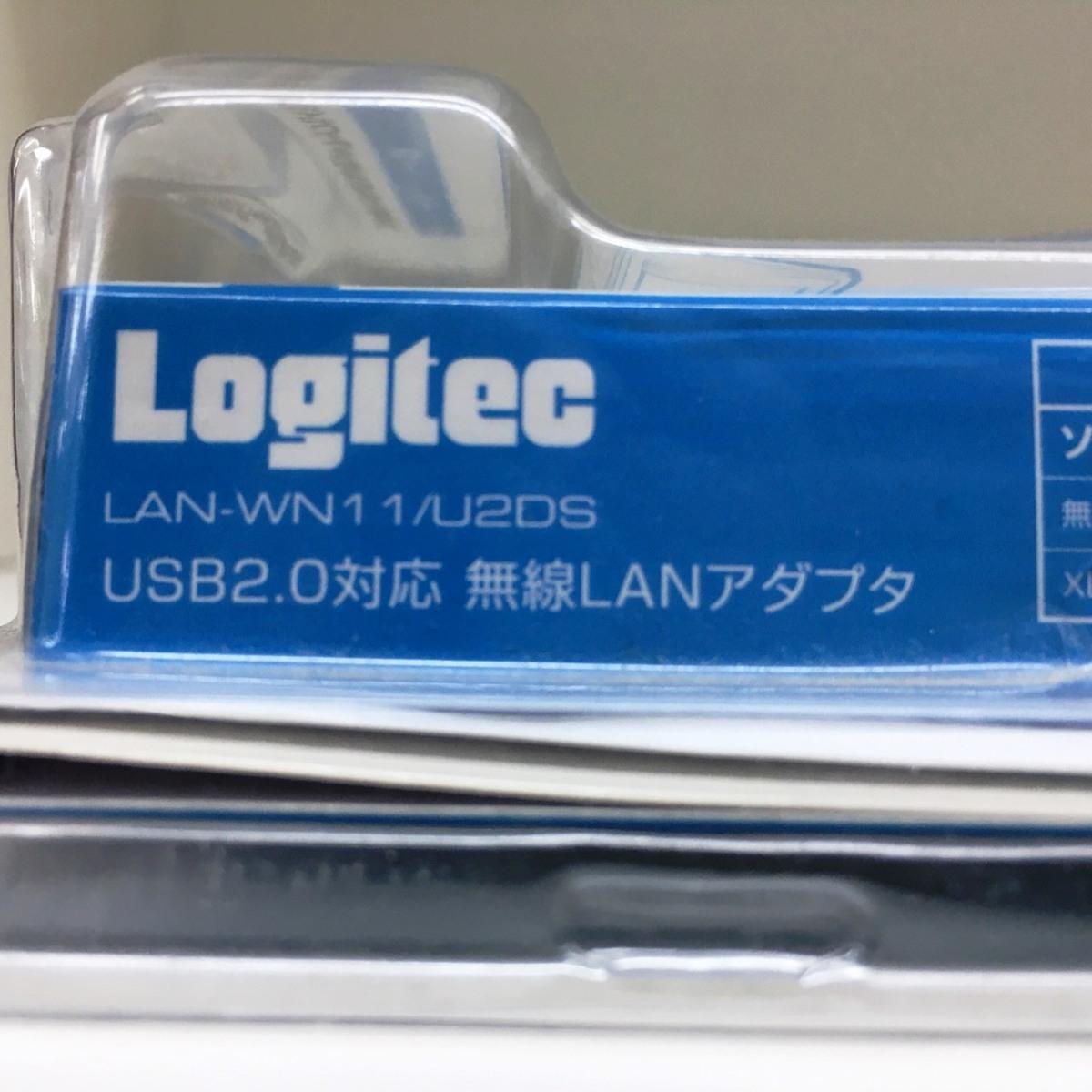 ■ジャンク ロジテック USB無線LANアダプタ LAN-WN11/U2DS /未使用長期保管 Logitec Д■_画像7