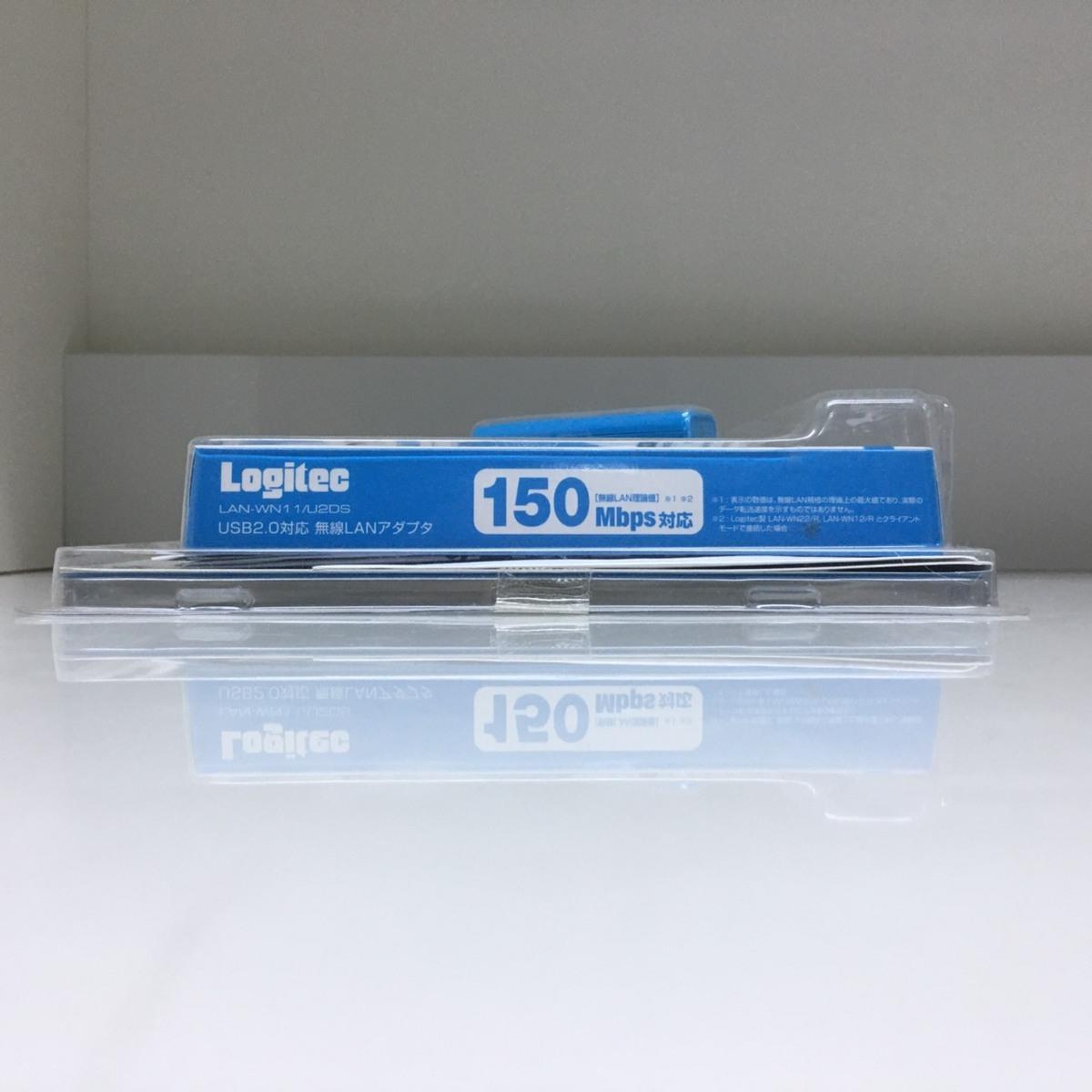 ■ジャンク ロジテック USB無線LANアダプタ LAN-WN11/U2DS /未使用長期保管 Logitec Д■_画像4