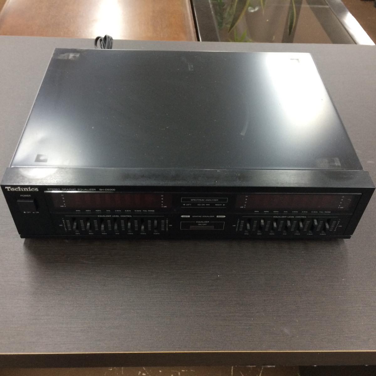 □ジャンク Technics グラフィック・イコライザー SH-D5000 /通電確認済 ζ□_画像1