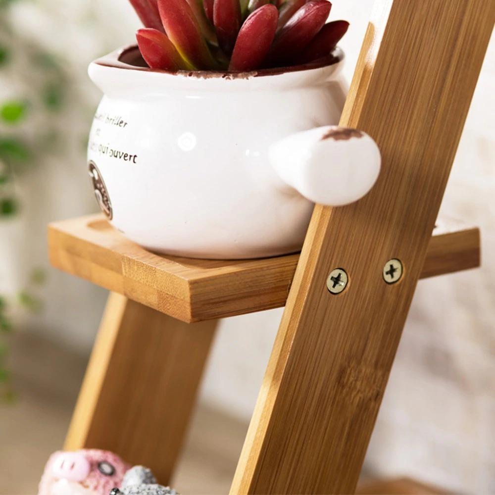 3段☆プランタースタンド♪花 ガーデニング 観葉植物 多肉植物 植木鉢 花瓶 フラワーポット 台 ホルダー 木材 ウッド インテリア_画像2