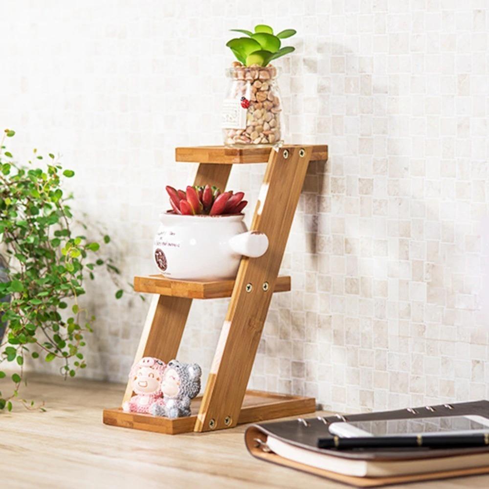 3段☆プランタースタンド♪花 ガーデニング 観葉植物 多肉植物 植木鉢 花瓶 フラワーポット 台 ホルダー 木材 ウッド インテリア_画像4