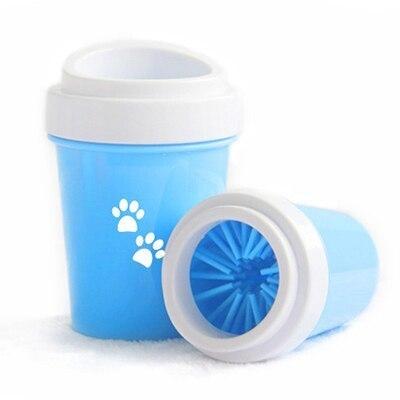 人気急上昇♪便利なペット用足洗浄機【Lサイズ】☆ペット 犬 猫 散歩 ブラシ 掃除 洗う ポータブル クリーニング カップ ブルー RU118_画像3
