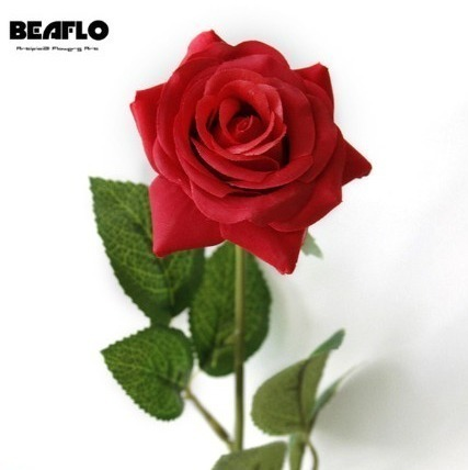 25本 バラ 高級造花 アートフラワー シルクフラワー 花束 薔薇 ローズ アレンジメント ブーケ プレゼント お祝い 結婚式 赤_画像2
