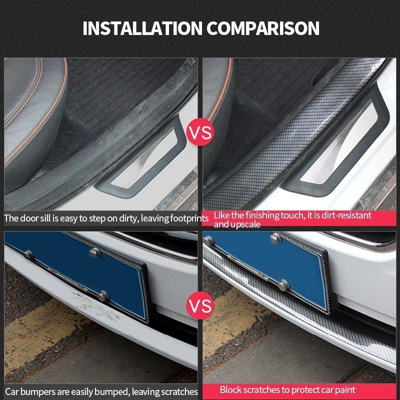 車のドアプロテクターカーボンファイバードアゴム車のステッカー 5Dスクラッチプルーフ自動ドア敷居保護商品成形ストリップ_画像9