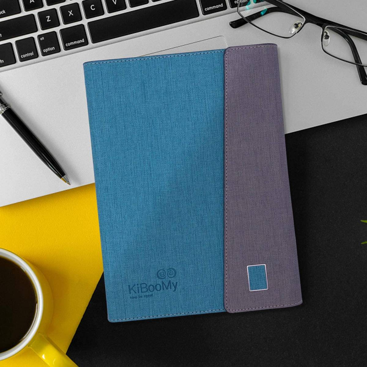 システム手帳カバー A5 KiBooMy PUレザー製 リフィル100枚付属 カード収納ケース付きA5サイズ メモ帳 ノート スタンダードタイプ 6穴リング_画像3