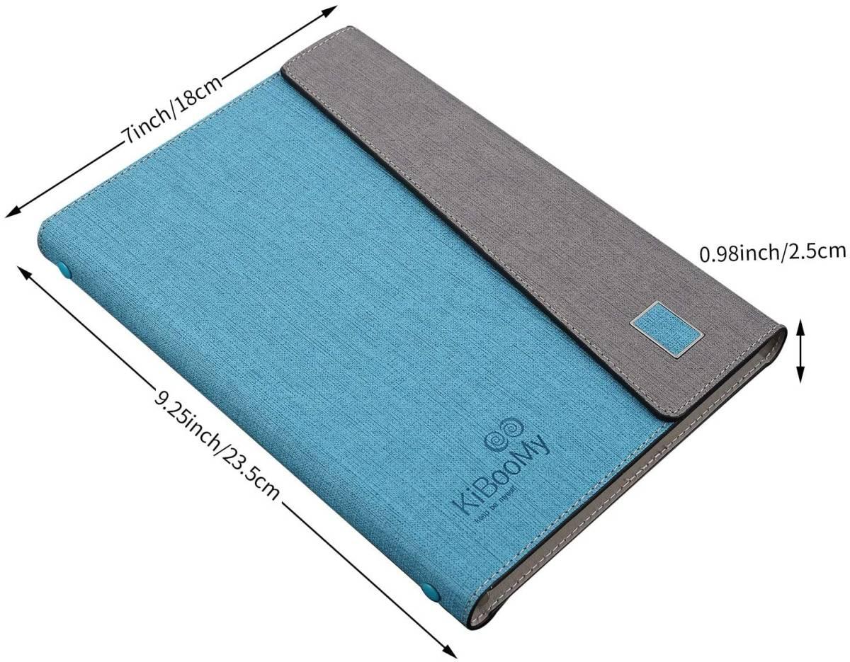 システム手帳カバー A5 KiBooMy PUレザー製 リフィル100枚付属 カード収納ケース付きA5サイズ メモ帳 ノート スタンダードタイプ 6穴リング_画像8