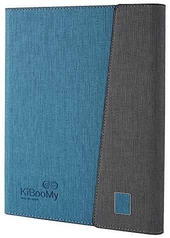 システム手帳カバー A5 KiBooMy PUレザー製 リフィル100枚付属 カード収納ケース付きA5サイズ メモ帳 ノート スタンダードタイプ 6穴リング_画像1