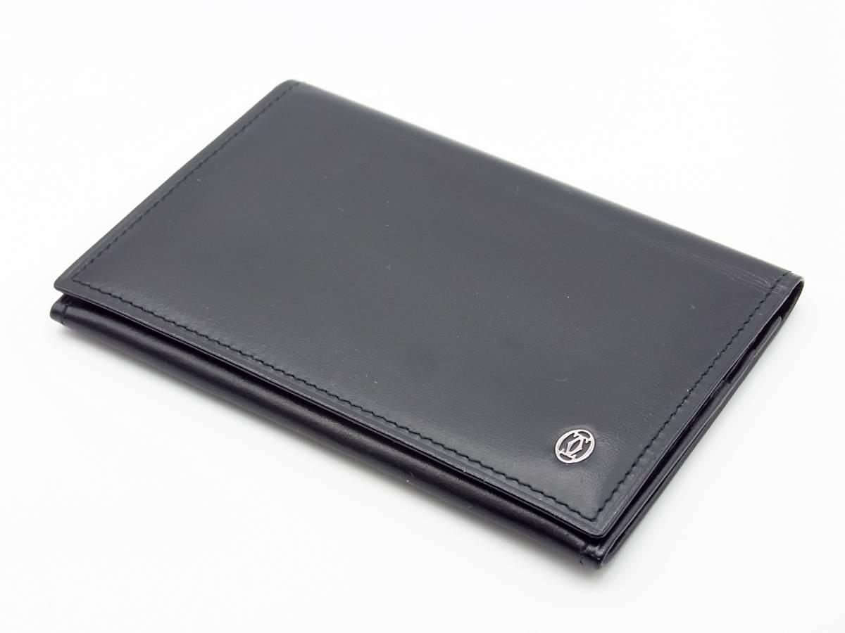 ■本物!美品! カルティエ【Cartier】パシャ 二つ折り名刺入れ カードケース《G-154》_画像1