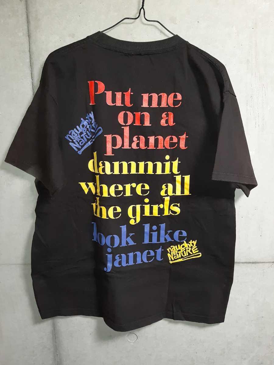 ヴィンテージ JANET JACKSON Tシャツ naughty by nature raptees ジャネット ジャクソン ブートレグ ラップ ヒップホップ ビンテージ_画像2