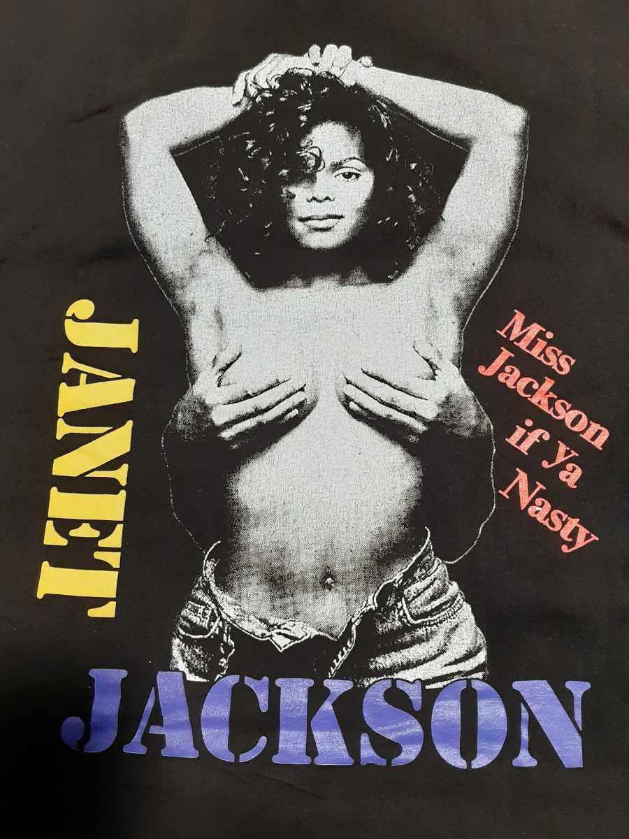ヴィンテージ JANET JACKSON Tシャツ naughty by nature raptees ジャネット ジャクソン ブートレグ ラップ ヒップホップ ビンテージ_画像3
