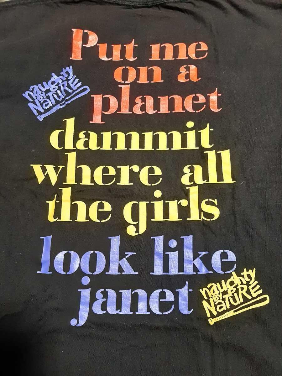 ヴィンテージ JANET JACKSON Tシャツ naughty by nature raptees ジャネット ジャクソン ブートレグ ラップ ヒップホップ ビンテージ_画像4